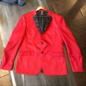Zara Party Blazer Sports Coat NWT 54 Red  Maroon